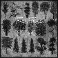 Trees Brushes Set 2 by Falln-Stock