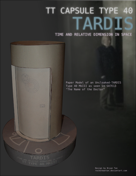 Doctor Who - Uncloaked TARDIS Papercraft by RocketmanTan