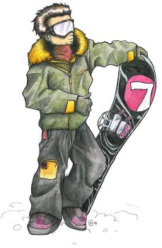 Snowboarder painted by Chorizowagon
