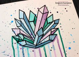 Daily Drawing #13 - Crystals [Vlog] by ImportAutumn