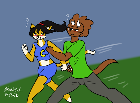 Comm- A Pair of Speedsters by wrytergirl