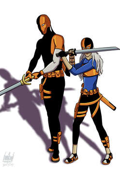 July 30, Slade Wilson and Rose Wilson by Alessadr