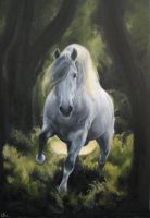 White Charger by estellea