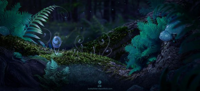 Little Blue Guy by whispersss