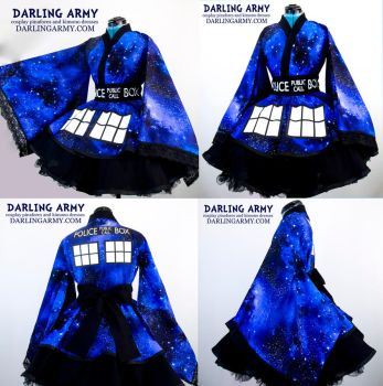 Doctor Who TARDIS Galaxy Cosplay Kimono Dress by DarlingArmy