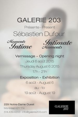 vernissage Sebastien-Dufour 2015 invitation back by Sericat