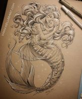 Mother and Baby Mermaid by KelleeArt