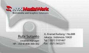 Nyx Media Work Business Card by xsos