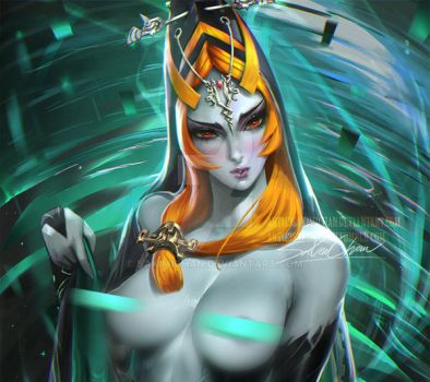 Midna.nude tag. by sakimichan