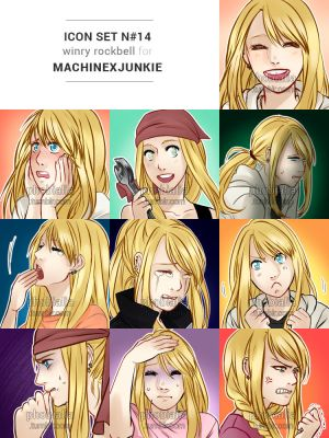 (C) RP icon set #14: Winry Rockbell by phobialia