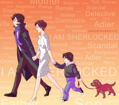Sherlock, Irene, Nero and Redbeard by gwendy85
