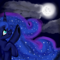 and this is the moon! by trinidream