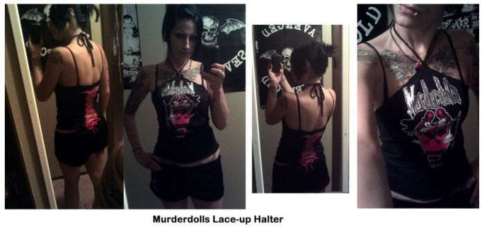 Murderdolls Lace-up Halter by VyolentGriMm