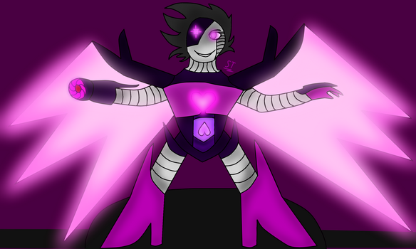 *Stage lights are blaring. - Mettaton NEO attempt. by AfterfellChara
