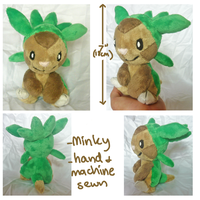 Chespin-gen 6 grass starter plush