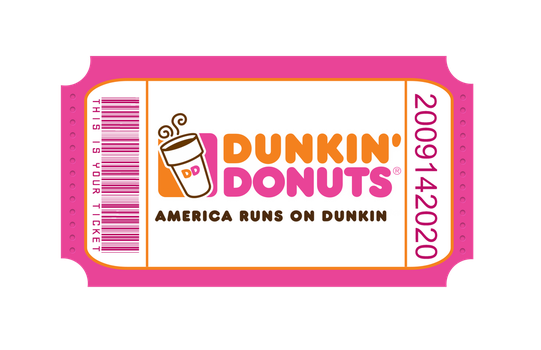 Dunkin ticket by MonseTwenty