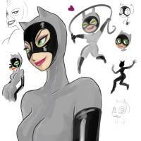 Catwoman animated doodles by aichan25