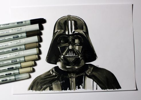 Darth Vader (marker sketch) by Quelchii