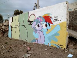Ponies Everywhere Graffiti by ShinodaGE
