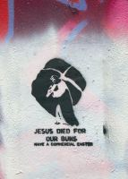 jesus died for our buns. by zward