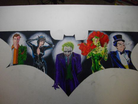 Batman Villains by Jadeweasel