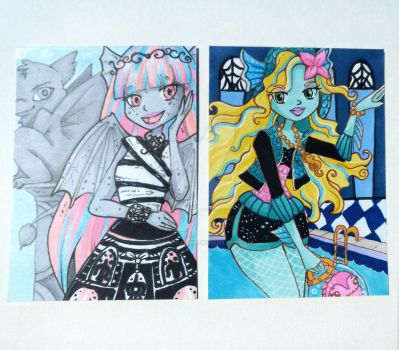 Monster High ACEOS by manekiCarrie