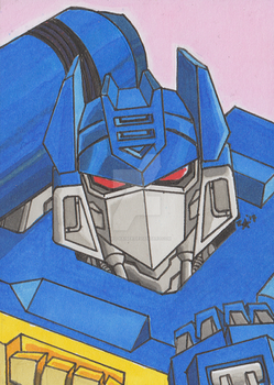 G1 Soundwave Trading Card - Commission by Zero-Kaiser