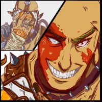 Borderlands 2 Krieg Psycho without a mask color by sharrm