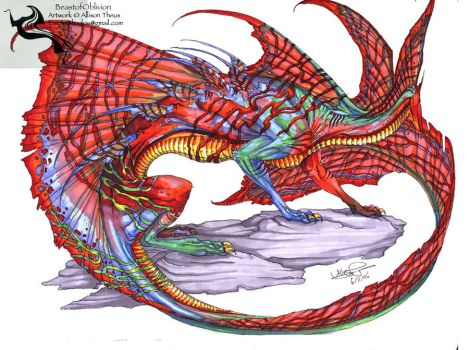 Painted Fin Dragon by beastofoblivion