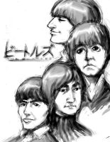 John Paul George and Ringo by SiLLiMan-00