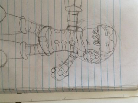 Second mighty no.9 drawing by Radichedgehog25