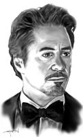 Tony Stark as played by RD Jr by StevenWilcox